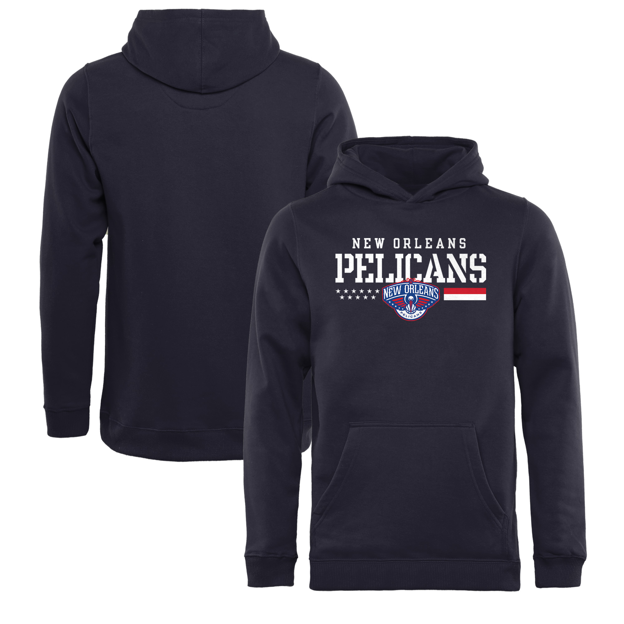 New Orleans Pelicans Fanatics Branded Youth Hoops For Troops Pullover Hoodie - Navy