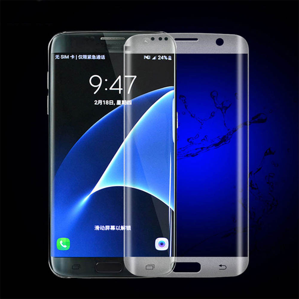 cheap for discount fcf03 dbdcc Samsung Galaxy S7 Edge Tempered Glass Screen Protector FULL COVER