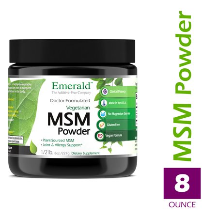 Emerald Laboratories (Ultra Botanicals) - MSM Powder 4,000 mg - Joint Support for Aches & Pains, Anti-Inflammatory, Stress Relief, Digestive System, & Promotes Healthy Hair, Skin, and Nails - 8