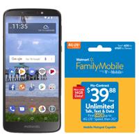 Walmart Family Mobile Motorola E5 and Prepaid Plan Bundle