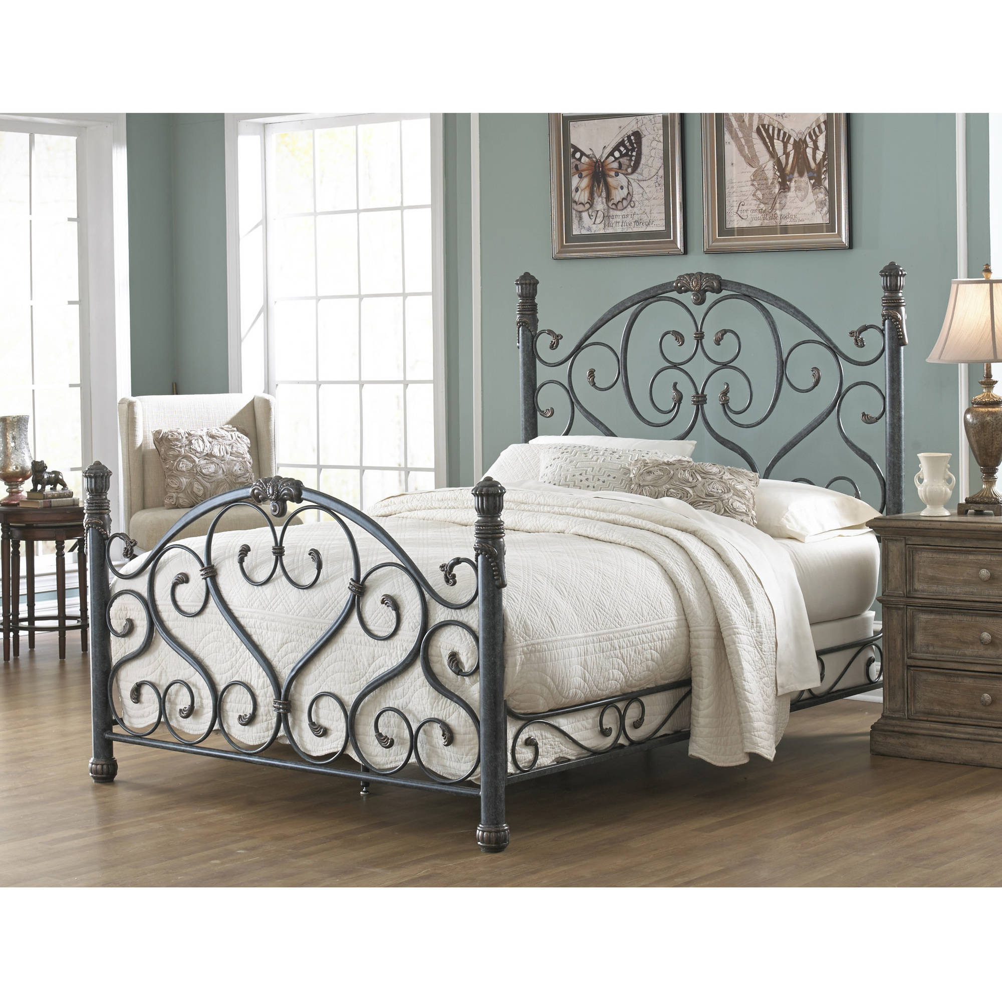 Fashion Bed Group by Leggett & Platt Duchess Cerulean Marble Bed, Multiple Sizes