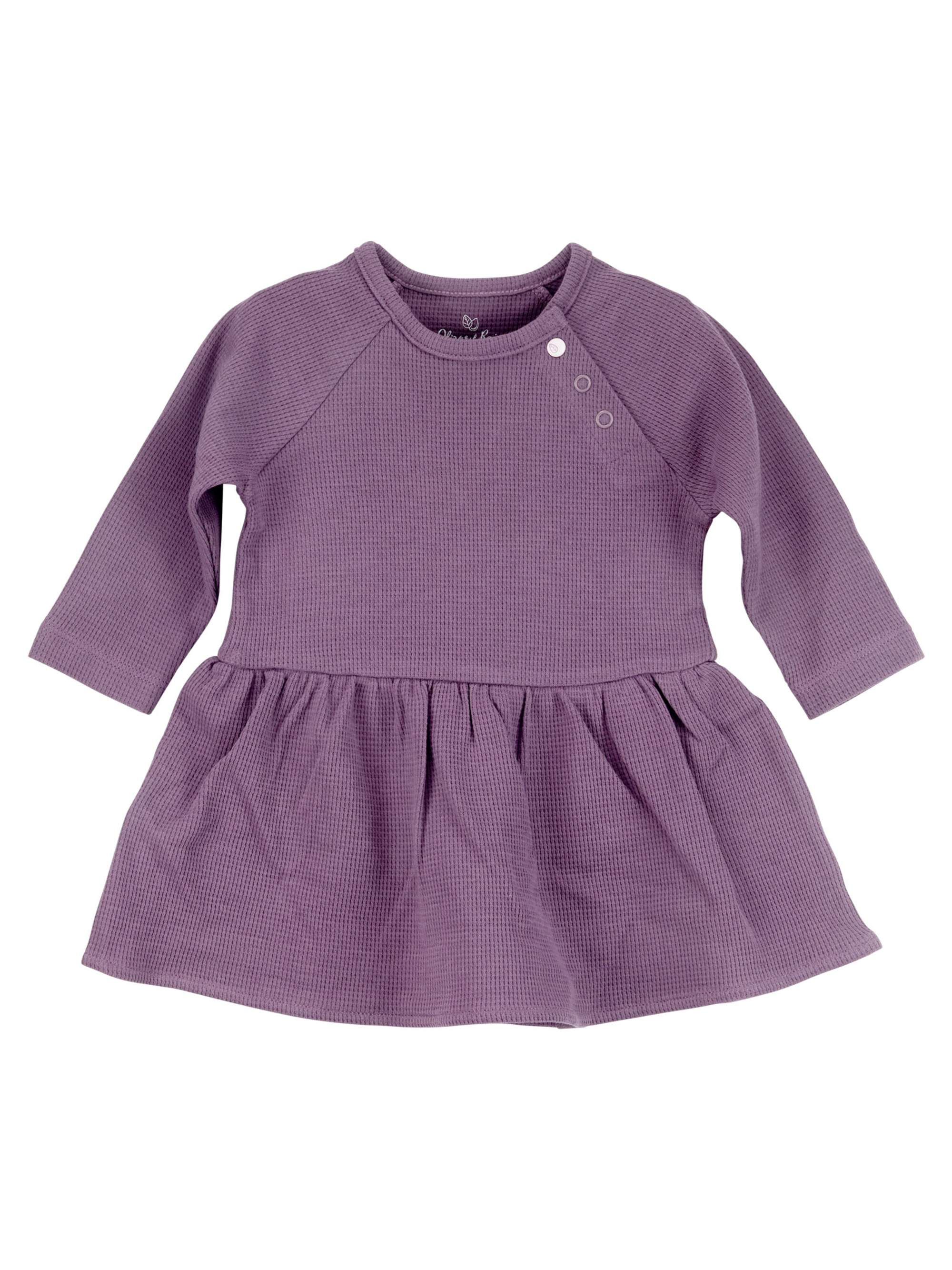 Plum Long Sleeve Bodysuit Dress (Baby Girls)