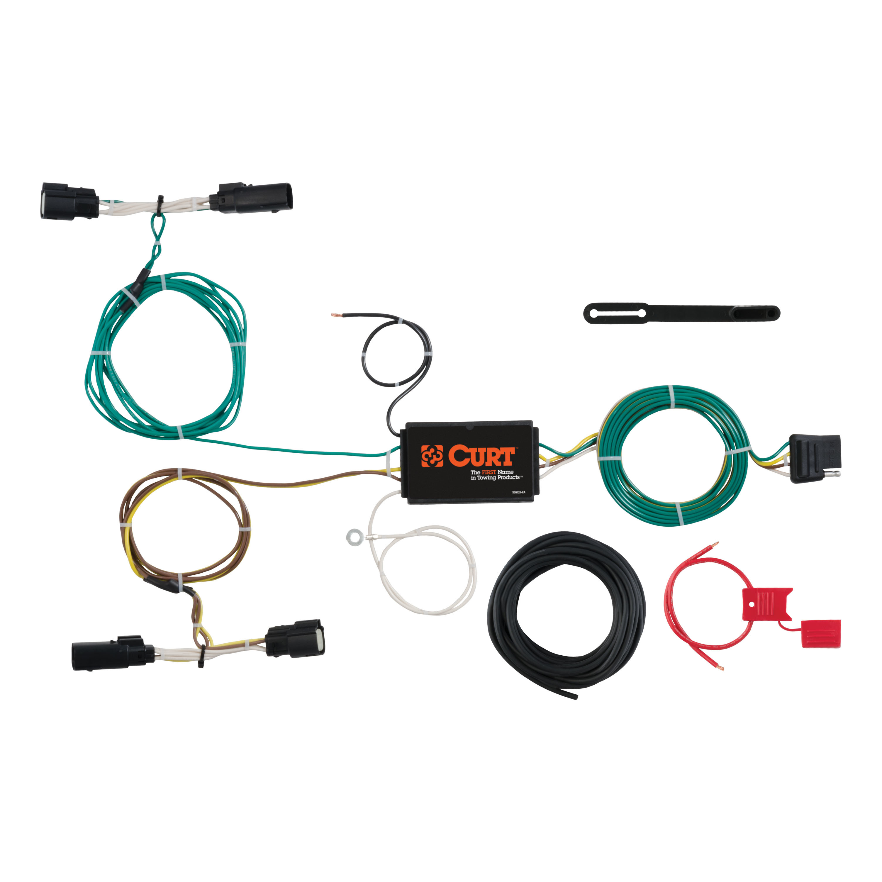 Curt Hitch 56272 Trailer Wiring Connector T With 4 Way Plugs Flat Connection