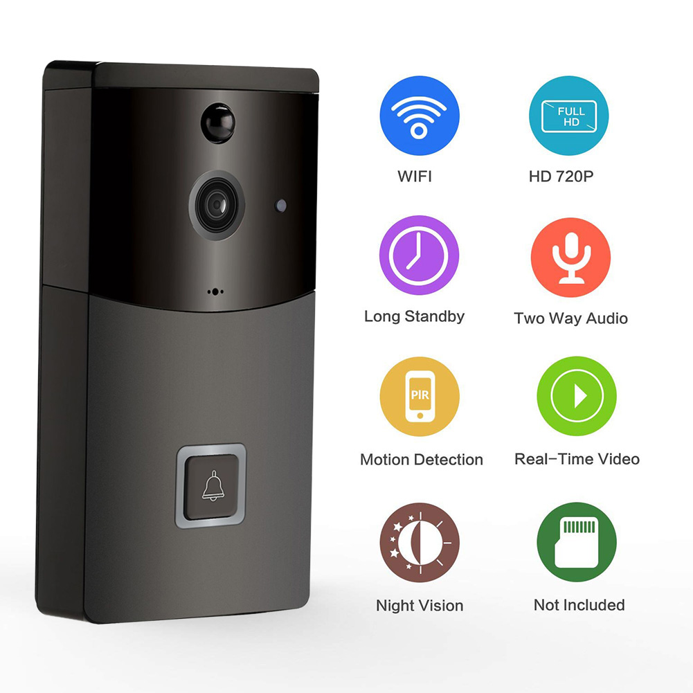 Wifi Smart Video Doorbell B10 Mobile Phone APP Remote Viewing Video Intercom Without Battery Without TF Card