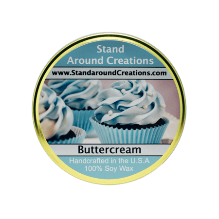 BUTTER CREAM TUREEN 11-OZ. ALL NATURAL SOY CANDLE