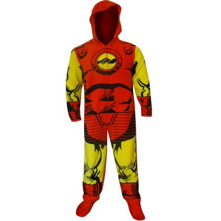 Hooded Marvel Comics I am Iron Man One Piece Pajama