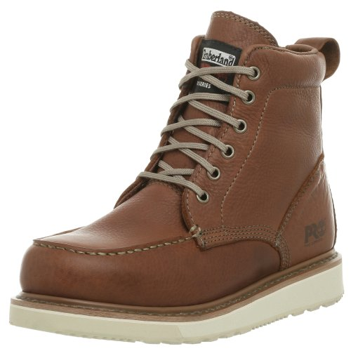 "Timberland PRO Men's 53009 Wedge Sole 6"" Soft-Toe Boot,Rust,8.5 M by Timberland PRO"