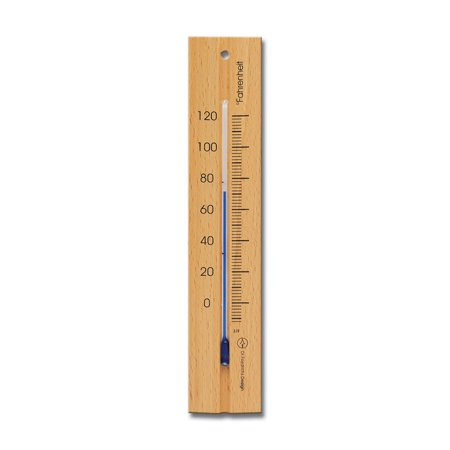 Wall Thermometer 7.8 inch Beechwood Natural Finish
