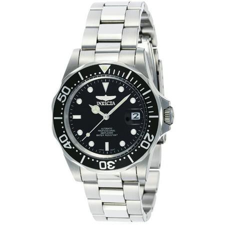 Men's 8926 Pro Diver Automatic 3 Hand Black Dial Watch Deep Diver Silver Dial