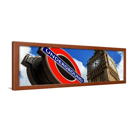 Big Ben and Westminster Station Underground - Subway Station Sign - City of London - UK - England Framed Print Wall Art By Philippe (Best Underground Radio Stations)