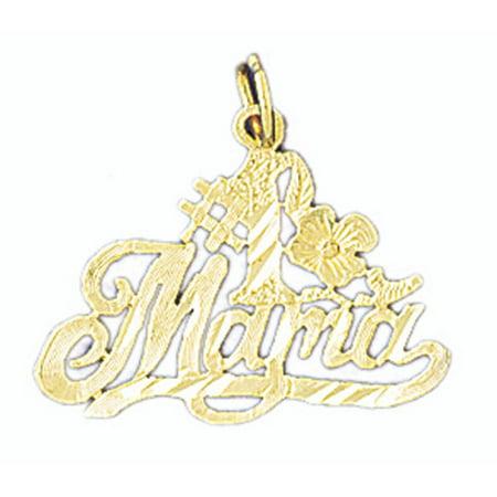 (14K Yellow Gold #1 Mama Pendant - 20 mm)