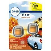 Febreze Car Odor-Eliminating Air Freshener, Hawaiian Aloha, 2 ct