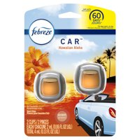 Febreze Car Odor-Eliminating Air Freshener, Hawaiian Aloha, 2 Ct