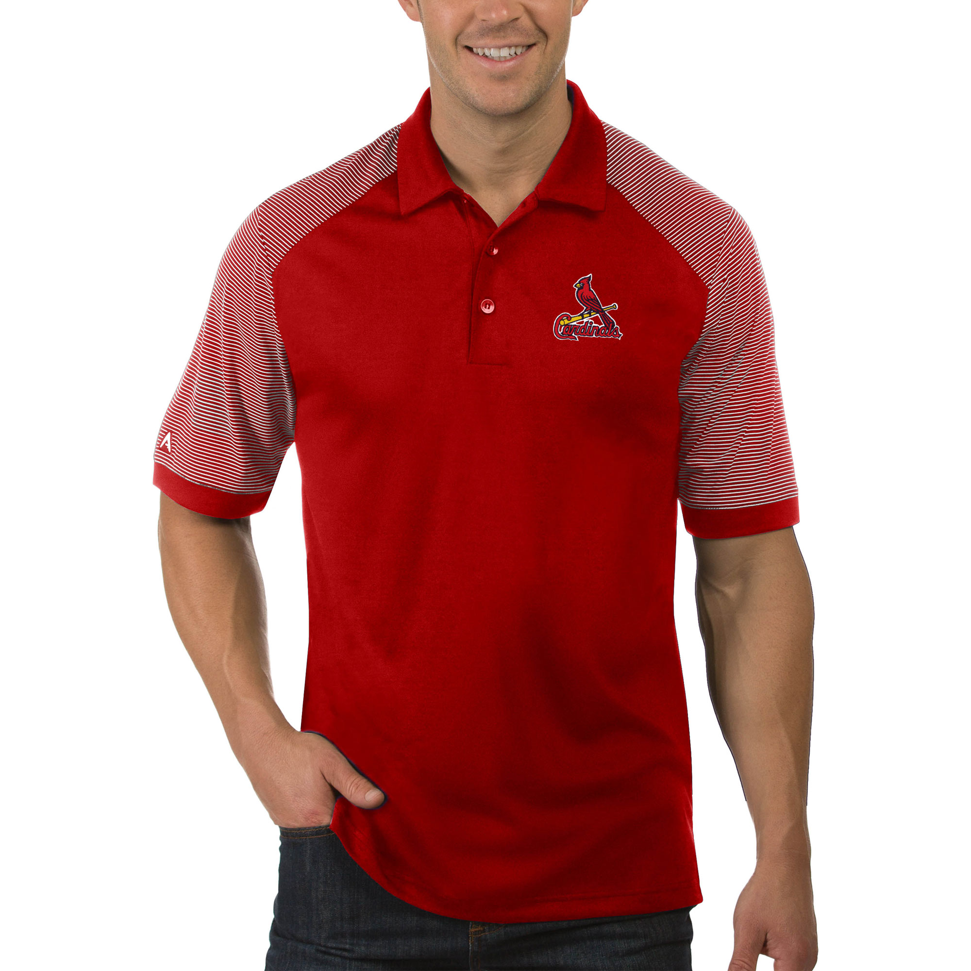St. Louis Cardinals Antigua Engage Big & Tall Polo - Red