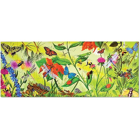 Melissa & Doug Bugs Floor Puzzle (Easy-Clean Surface, Promotes Hand-Eye Coordination, 24 Pieces, 4 Feet Long)