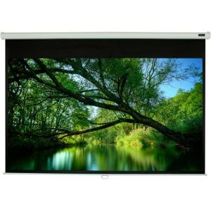 """EluneVision Triton Manual 84"""" Wall/Ceiling Mount Projection Screen, Cinema White"""