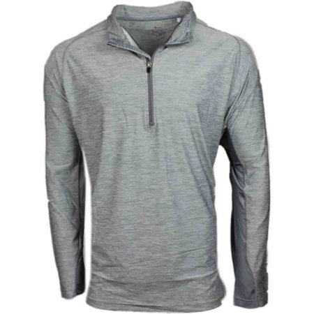 Page & Tuttle Mens Heather Colorblock Quarter Zip  Golf Athletic  Pullover - ()