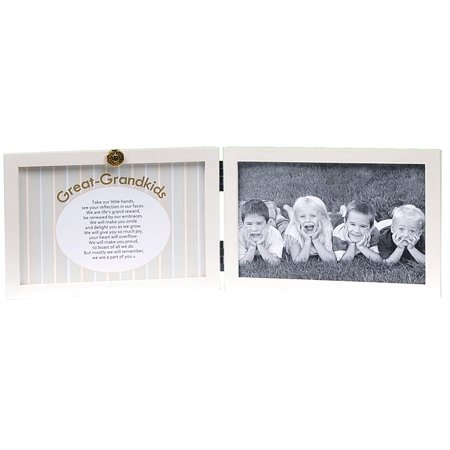 Great-Grandkids White Double Hinged Tabletop Photo Frame 4x6 and ...