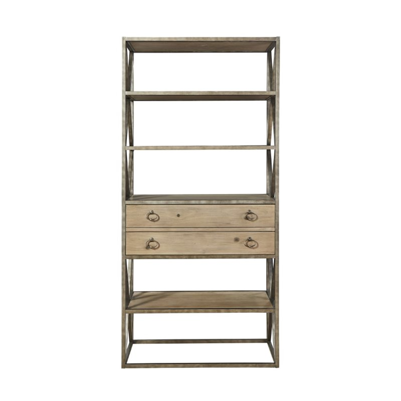 Universal Furniture Authenticity Etagere in Khaki by Universal Furniture