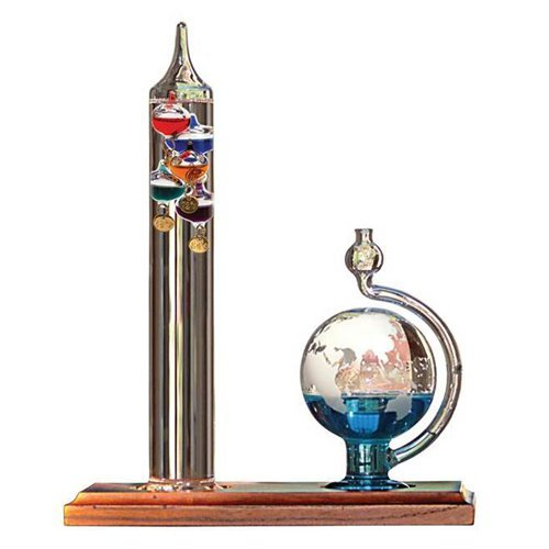 Galileo Thermometer with Barometric Ball