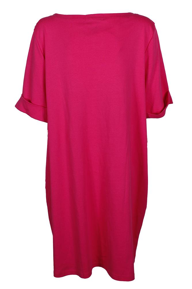 07ea9b62e11 KarenScott - Karen Scott Plus Size Vivid Pink Elbow Sleeve T-Shirt ...