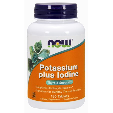 NOW Supplements, Potassium plus Iodine, 180 (Iodine Potassium)