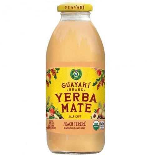 Guayaki Yerba Mate, Ready to drink, Pure Body, Peach Organic, 16 Fluid Ounce (Pack of 12)