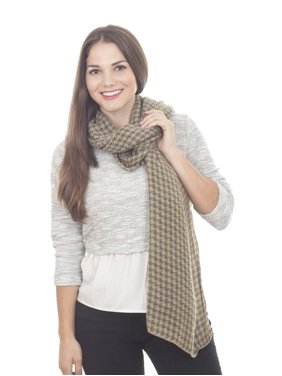 Saro Lifestyle Houndstooth Design Scarf Tan