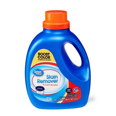 Great Value Laundry Stain Remover & Color Booster, 88 (Get Rid Of Bleach Stains On Black Clothes)