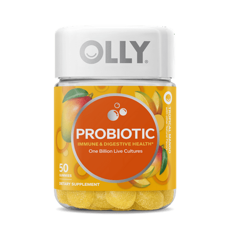 OLLY Probiotic Vitamin Immune and Digestive Health 1 Billion Cultures 50 Count Gummies