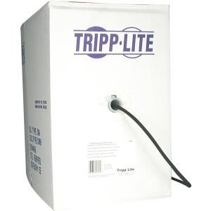 Tripp Lite 1000ft RG6/U Quad-Shield CMR-Rated Coaxial Cable, Black