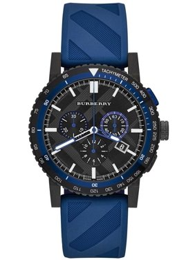 Burberry The New City Blue Rubber Chronograph Mens Watch BU9807