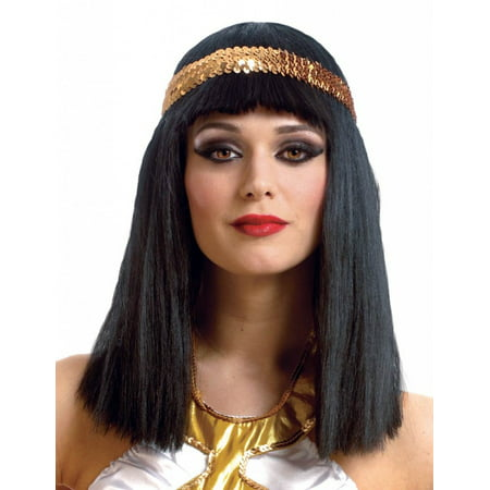 Cleopatra Wig with Headband Adult Costume Accessory - Costume With Wig