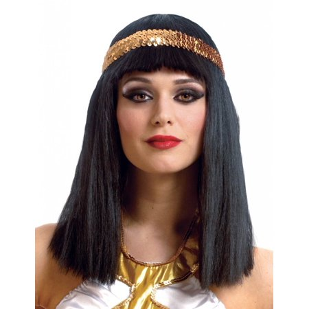 Cleopatra Wig with Headband Adult Costume Accessory - Cleopatra Head Piece
