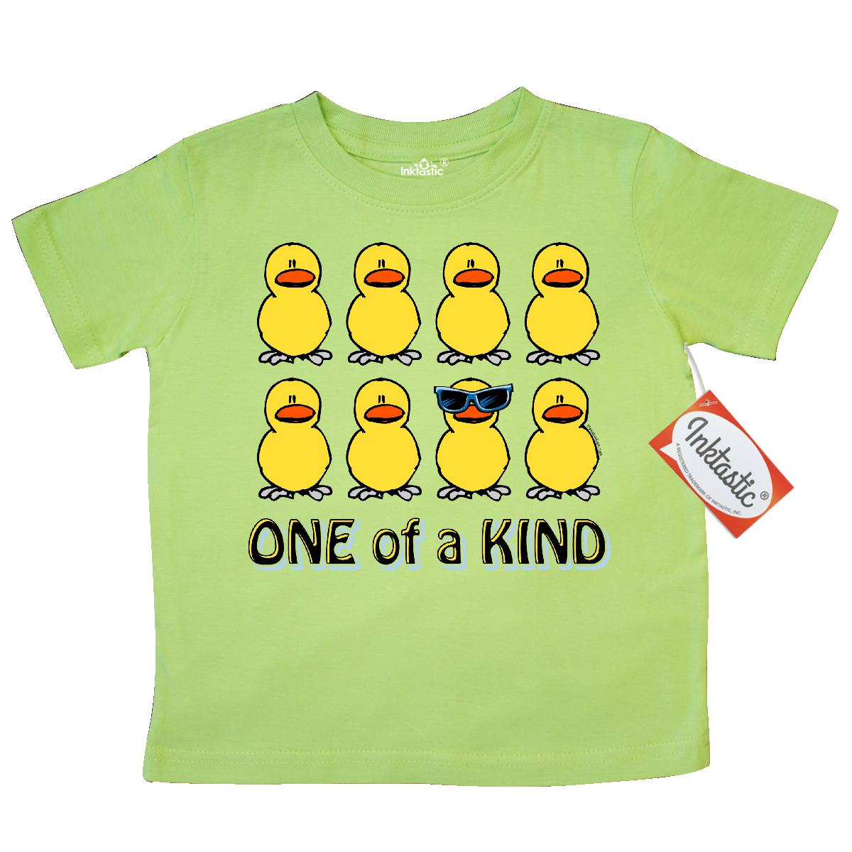 Inktastic One Of A Kind Toddler T-Shirt duck cute sunglasses unique funny pinkinkartkids easter 1st baby kids bunny egg chick tees. gift child preschooler kid clothing apparel