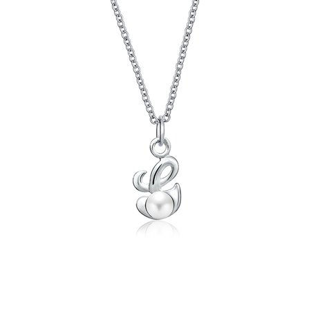 Freshwater Cultured Pearls 16 Inch String - Bling Jewelry Freshwater Cultured Pearl Initial G Pendant Sterling Silver Necklace 16 Inches