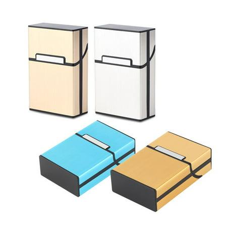(Light Aluminum Cigarette Cigar Case Pocket Box Container Storage Holder)