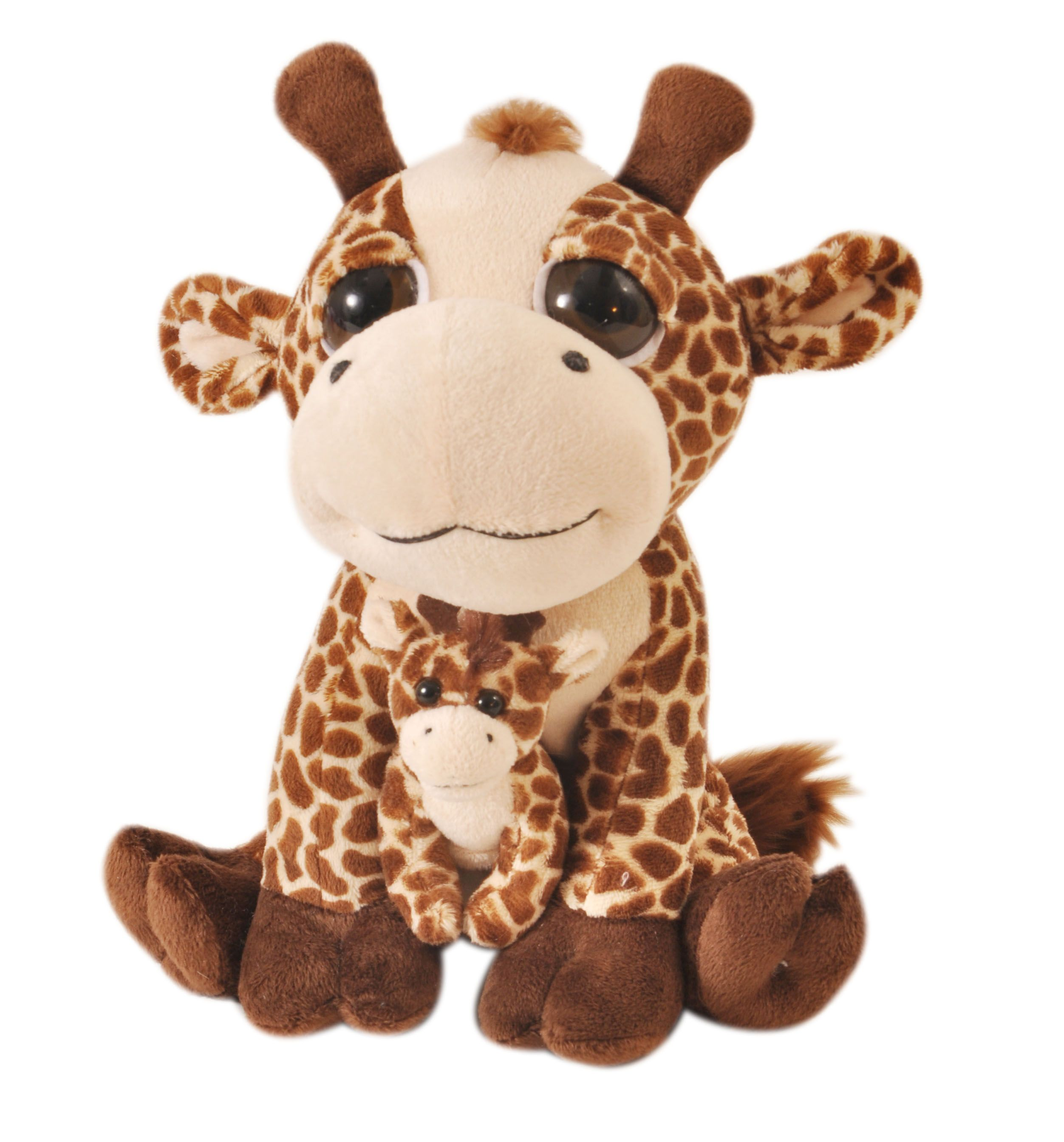 Bright Eyes Giraffe Pocketz - Stuffed Animal by The Petting Zoo (413504)