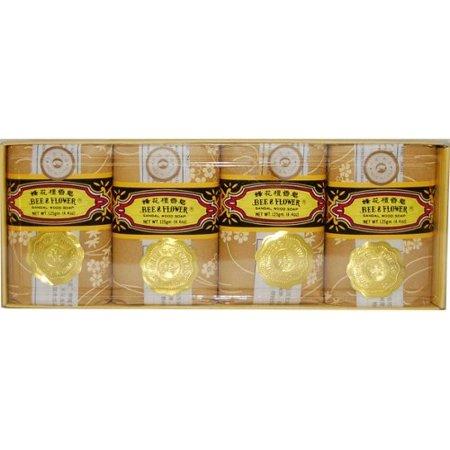 Bee & Flower Sandalwood Soap (Bee Fower Sandalwood Soap 2.6oz 4 Pack/case)