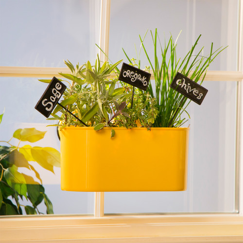 Wall Mates Push 'N Stay Suction Window Box Planter