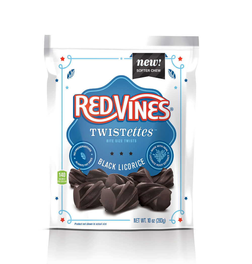 Red Vines Twistettes Bite Size Black Licorice, 10 Oz.