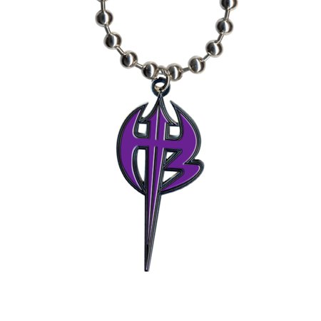 WWE Jeff Hardy Purple Logo Pendant - Logo Baseball Pendant