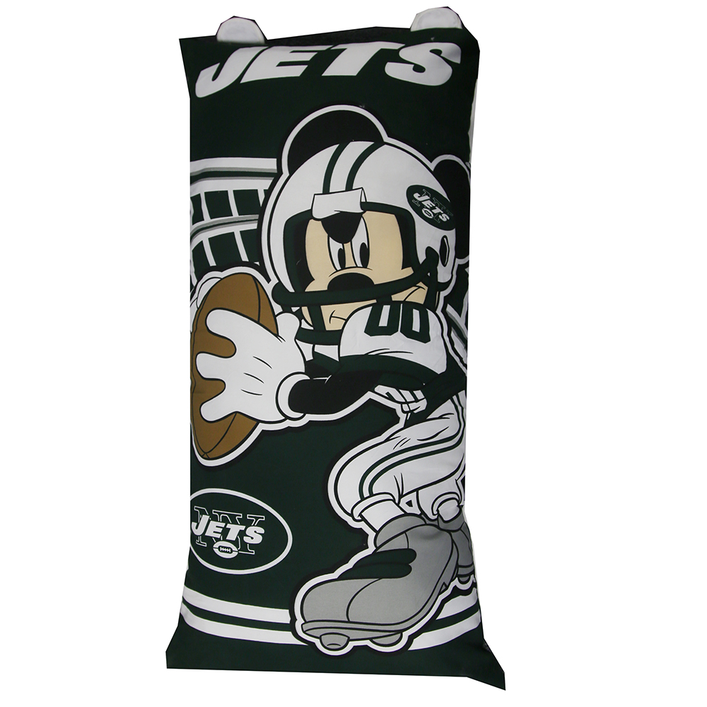 New York Jets Mickey Mouse YOUTH Body Pillow