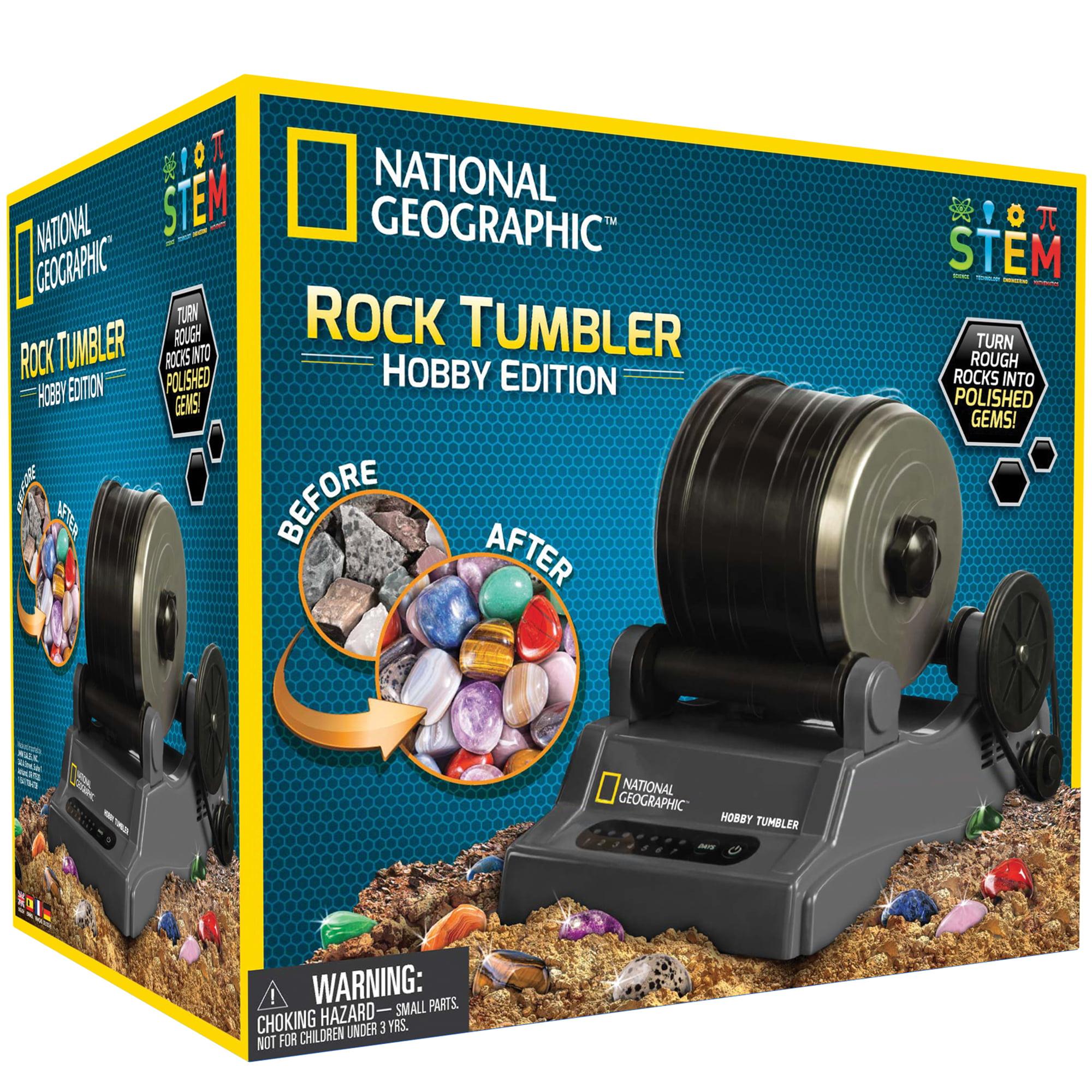 National Geographic Hobby Rock Tumbler Easily Create Polished