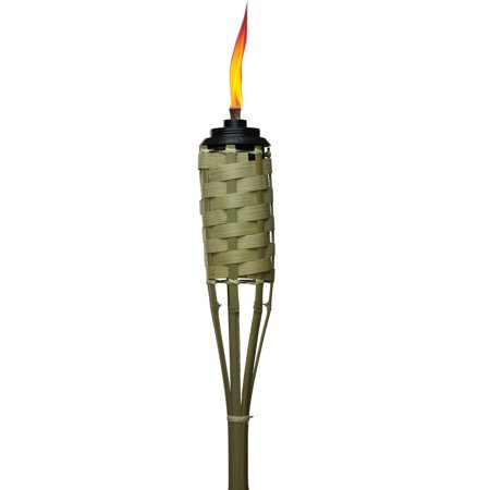 TIKI Brand 57-inch Luau Bamboo Torch with Easy Pour System Natural - 1116002 ()
