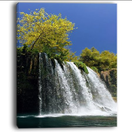 - Design Art 'Duden Waterfall Antalya' Photographic Print on Wrapped Canvas