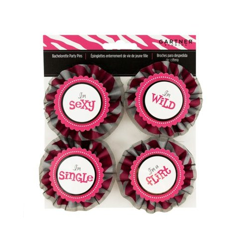 Bulk Buys Im With the Bride Bachelorette Party Pins, Case of 18