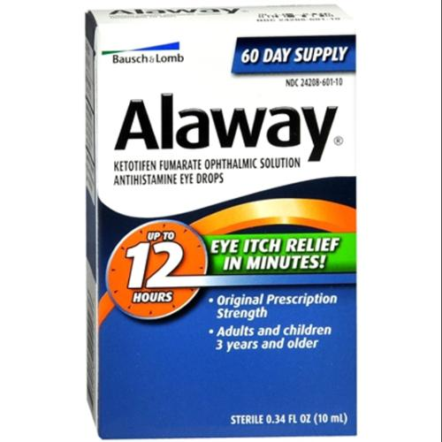 Bausch & Lomb Alaway Eye Itch Relief Drops 0.34 oz (Pack of 3)