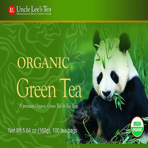 Uncle Lee's Tea Organic Green Tea Bags, 100 count