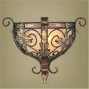 Livex 8841-64 Pamplona Wall Sconce- Palacial Bronze with Gilded Accents